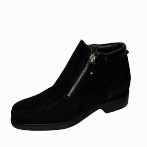 Aquatalia suede leather side zip ankle boots